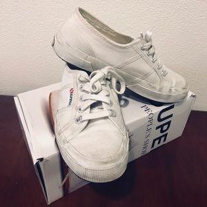 Superga Cotu Classic White Size 37/ 6.5 Medium